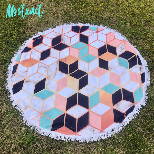 Round Beach Towel *Final Sale* - Abstract