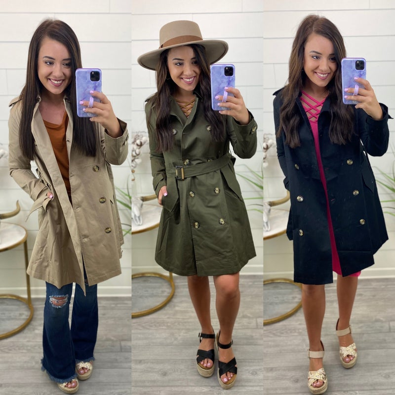 Black Thursday 2020 - Countryside Trench Coat *Final Sale*