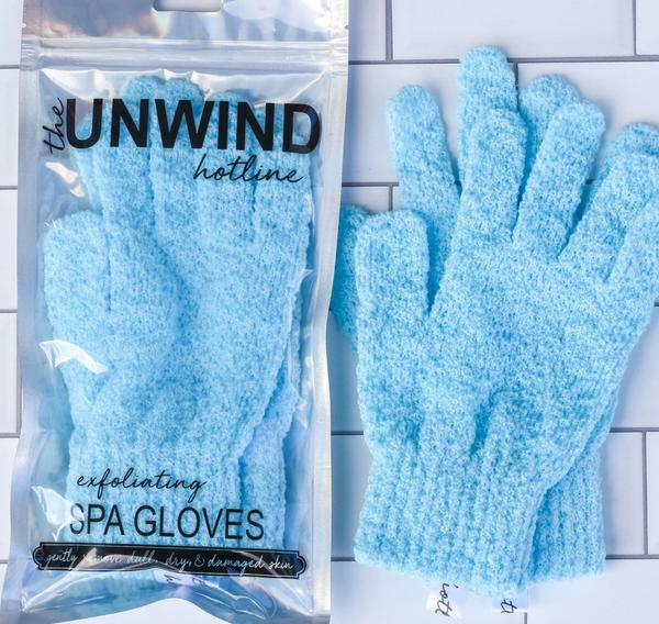 Exfoliating Spa Gloves *Final Sale* - Blue
