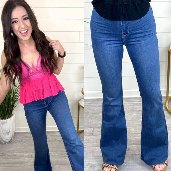 On The Right Track Bell Bottoms *Final Sale*
