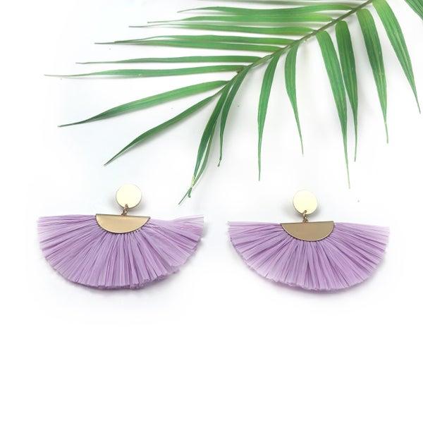 Raffia Fan Earrings *Final Sale*