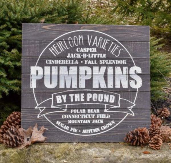 Pumpkin Varieties Sign *Final Sale*