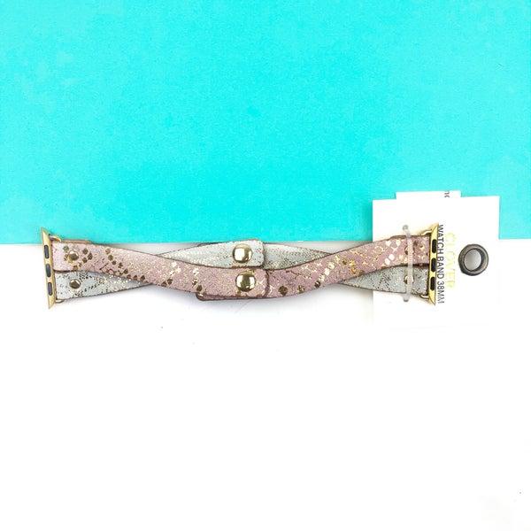 Snake Print Criss Cross Watch Band *Final Sale*