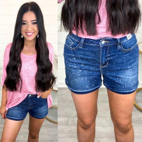 Jolene Galaxy Splash Judy Blue Jean Shorts