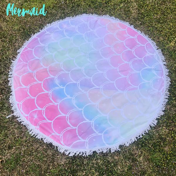 Round Beach Towel *Final Sale* - Mermaid