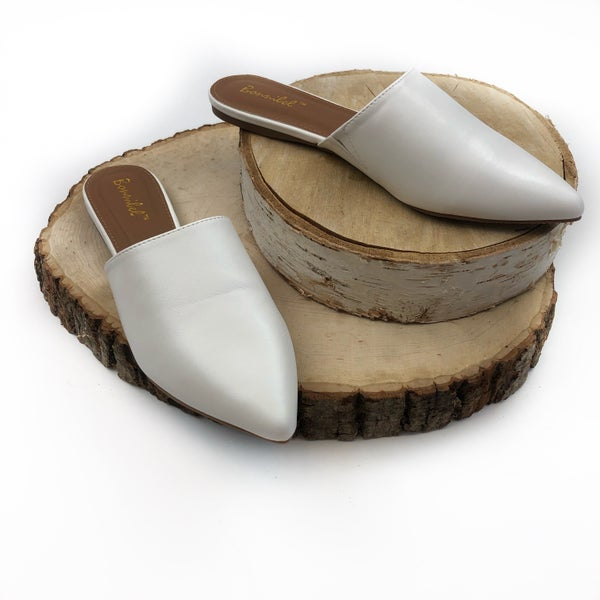 Fall Mules *FINAL Sale* - White