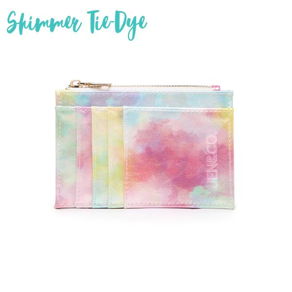 The Sia Card Holder Wallet *Final Sale* - Shimmer Tie-Dye