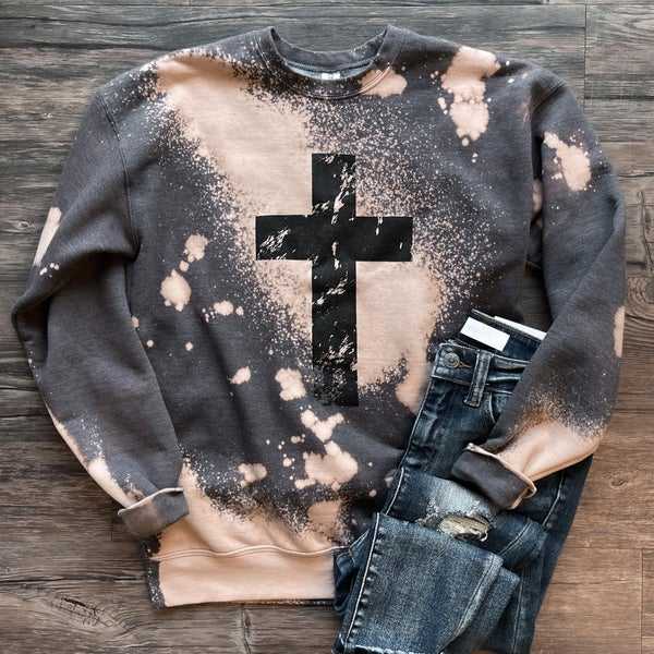 Cross Bleached Sweatshirt