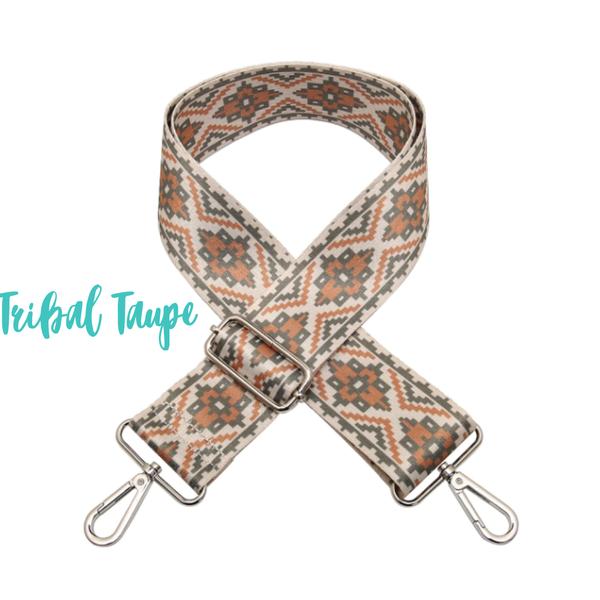 Adjustable Guitar Strap *Final Sale* - Tribal Taupe