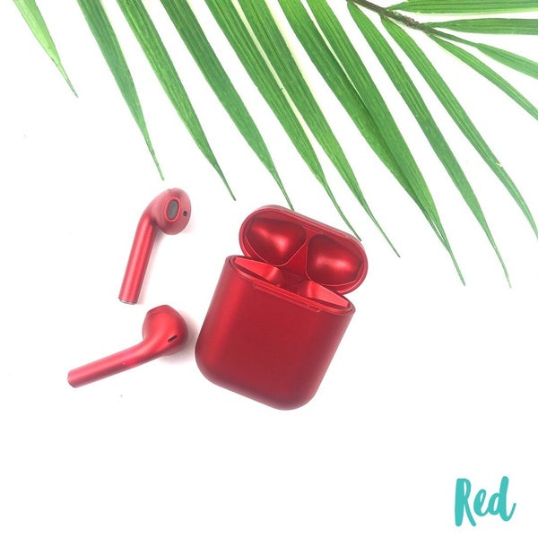 Satin Finish Wireless Airpods *Final Sale* - Red