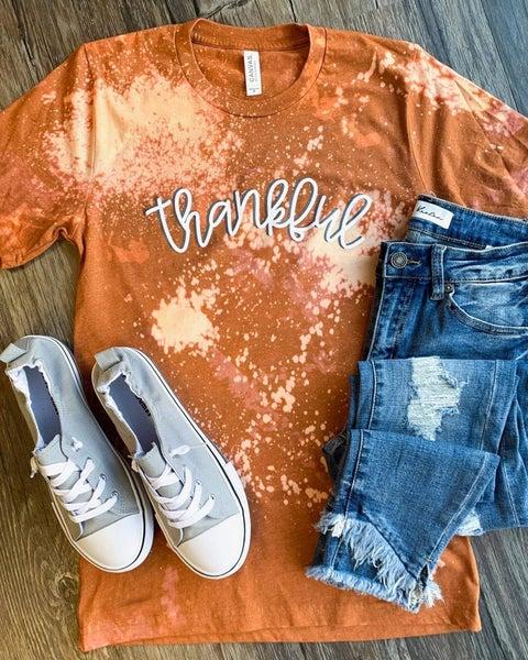 Hand Bleached Thankful T-Shirt *Final Sale*