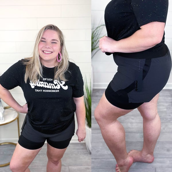 Two-Toned Athletic Shorts