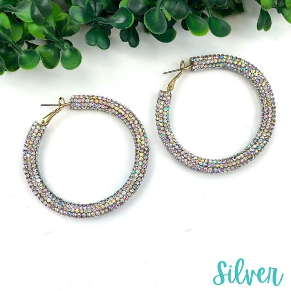 Blinded by the Light Hoops *Final Sale* - Silver