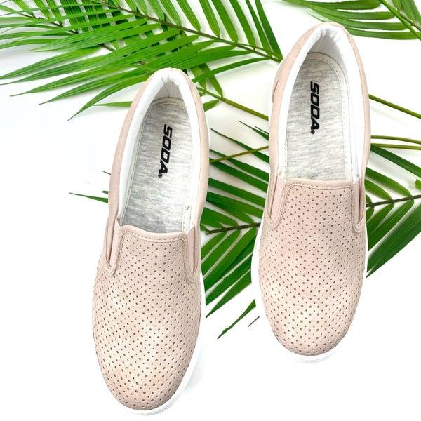 Turn Away Slip On Sneakers - Mauve
