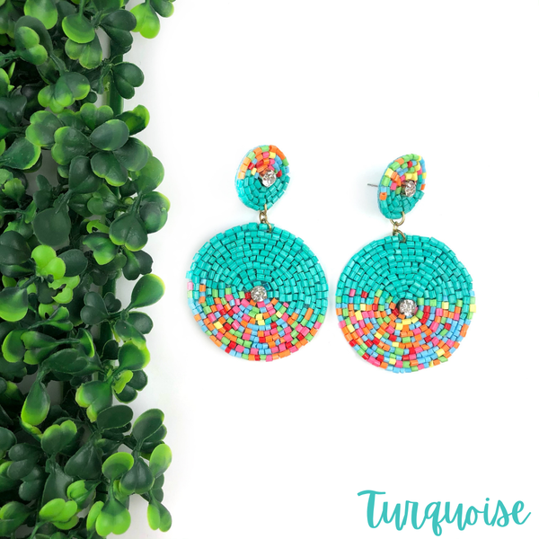 The Zoey Seed Bead Earrings *Final Sale* - Turquoise