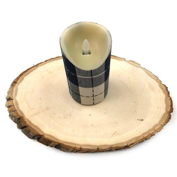 Window Pane Pillar Candle *Final Sale*
