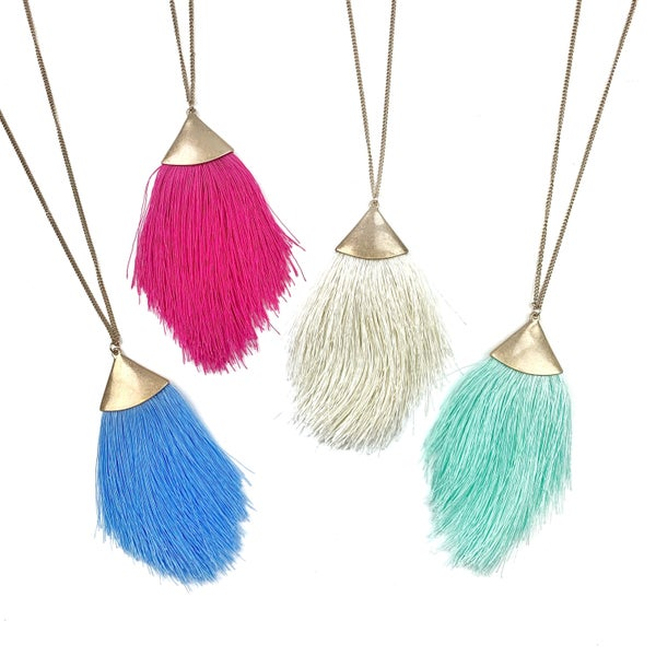 Lucky For Me Tassel Necklace