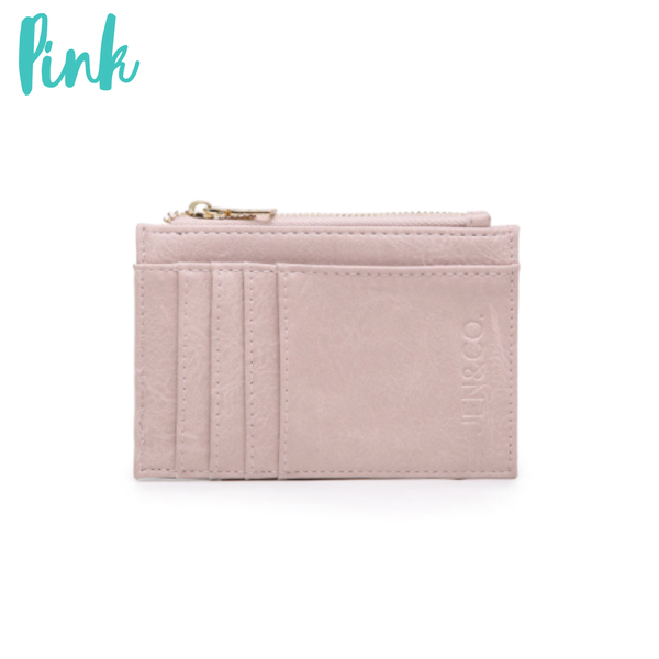 The Sia Card Holder Wallet *Final Sale* - Pink