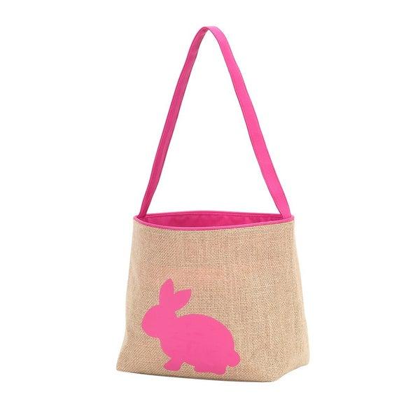 Burlap Bunny Basket *Final Sale*