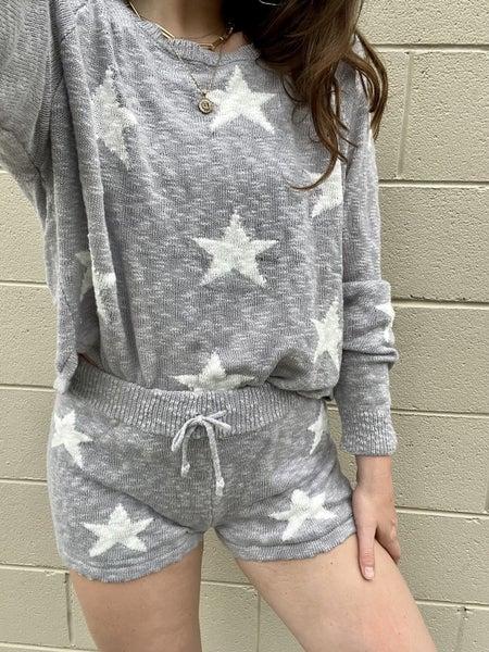 Intarsia Star Knit Short