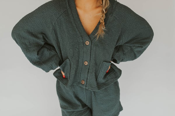 Oversized Button Down Cardigan