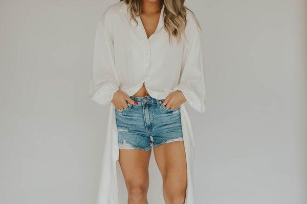 Tencel Fabric Button Down Tunic