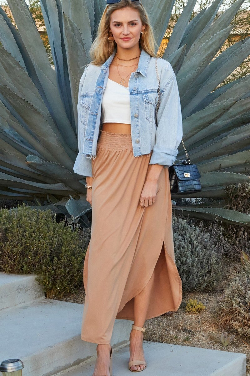Queen of the Night Maxi Skirt with Elastic Waist in Multiple Colors - Sizes 12-20