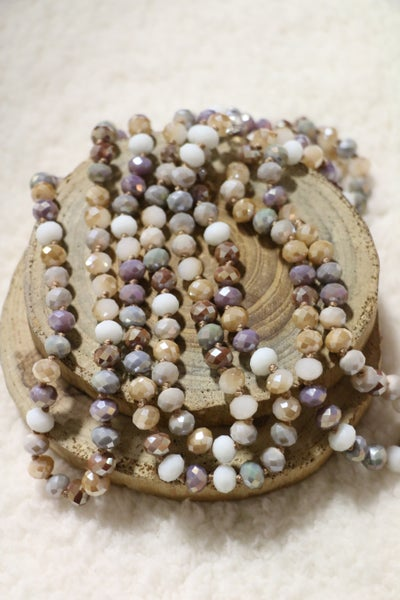 Sand Diamond Point Of Perfection Beaded Necklace