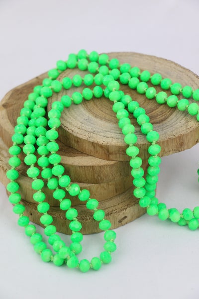 Neon Green Point Of Perfection Beaded Necklace