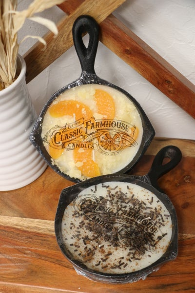 Oh So Yummy Cast Iron Skillet 3 Wick Candle In Multiple Scents