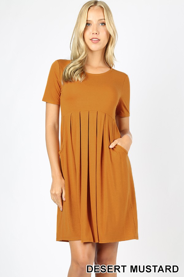 Can't Wait for You Mustard Short Sleeve Dress - Sizes 4-12