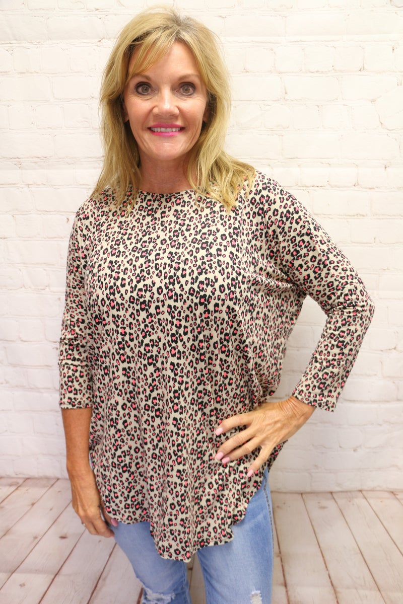 Such a Joy Leopard Print Top with Neon Accents in Multiple Colors - Sizes 4-20