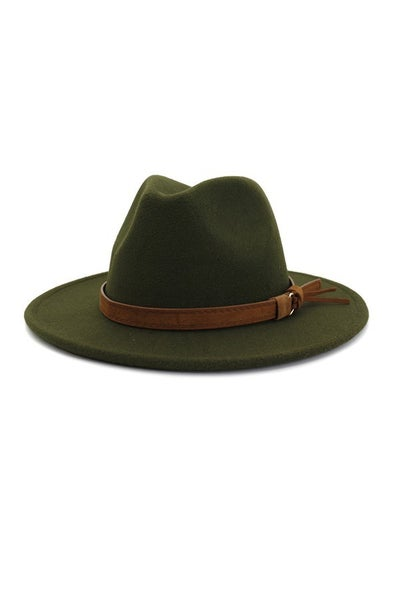 Looking Sharp Adjustable  Panama Hat With Brown Band