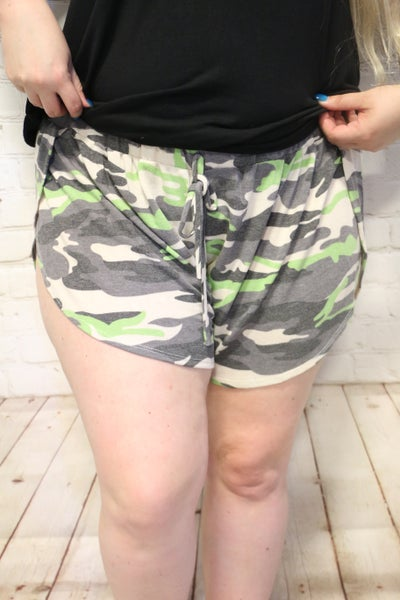 Ultra Comfortable Camo Shorts in Multiple Colors - Sizes 12-20