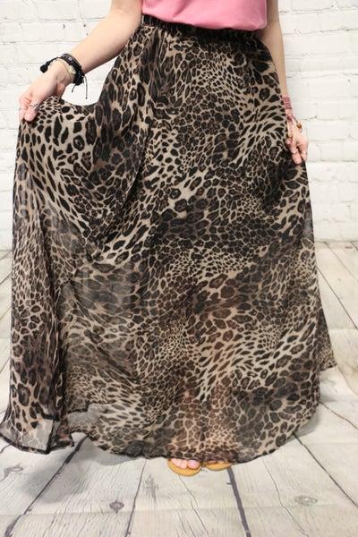On The Hunt Leopard Maxi Skirt