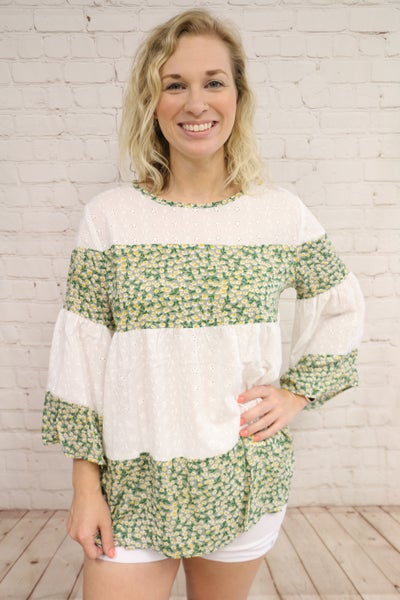 Daisies Make Me Smile Eyelet Accented Top - Sizes 4-20