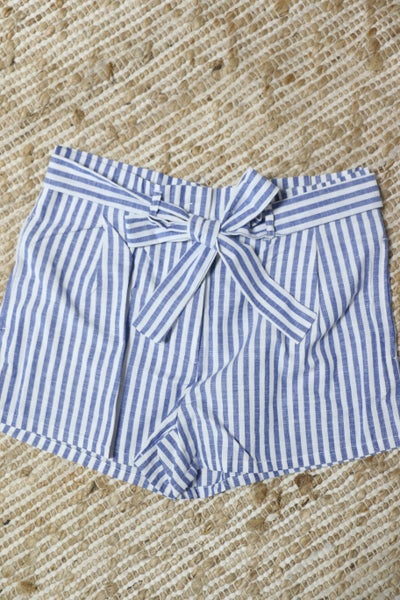 Summer Living Striped Paperbag Shorts - Sizes 4-10
