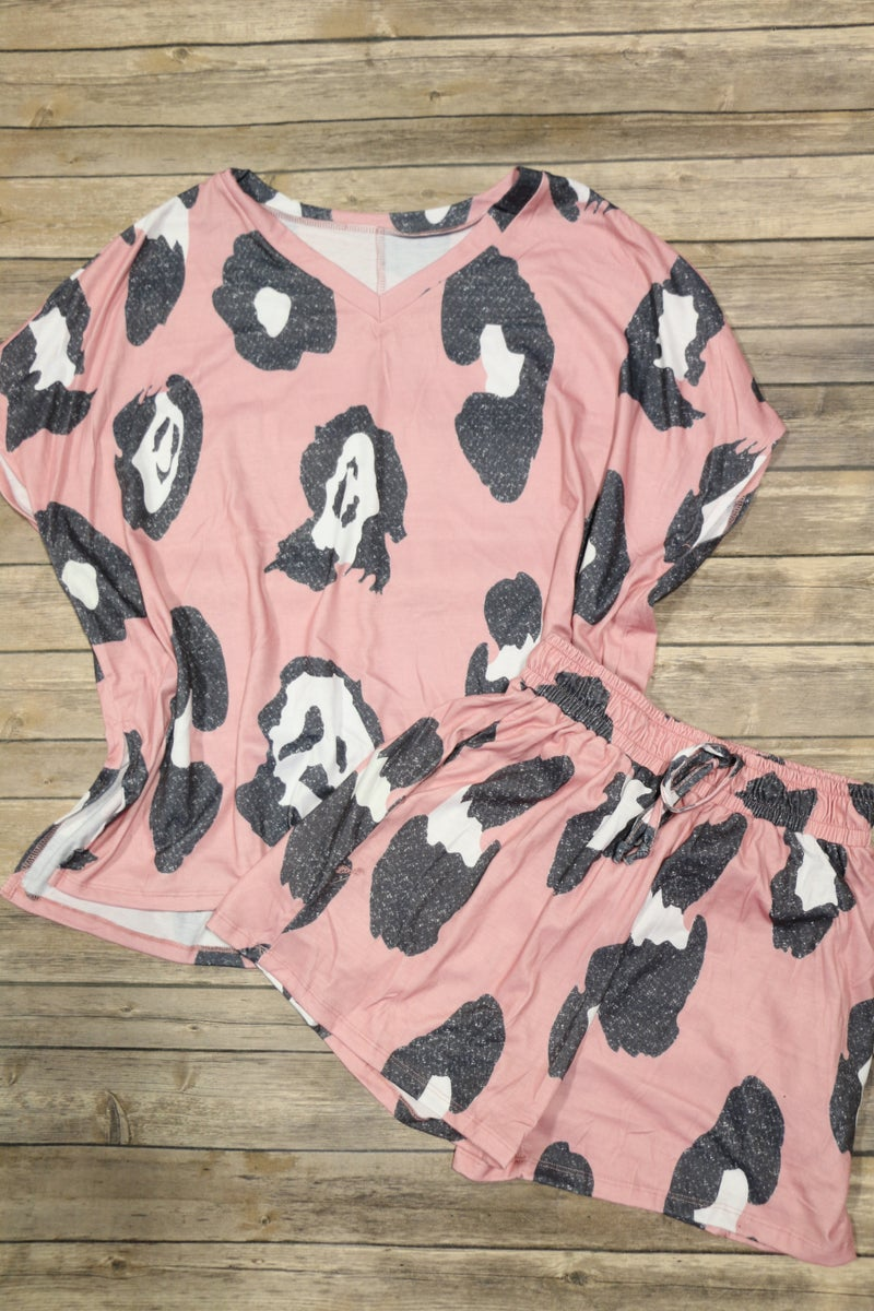Pink Leopard Pajama Set - Sizes 4-20