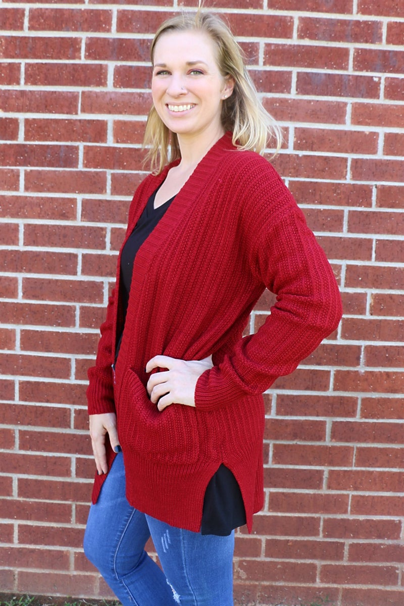 Feel The Power Sweater Cardigan with Pockets in Multiple Colors - Sizes 4-20