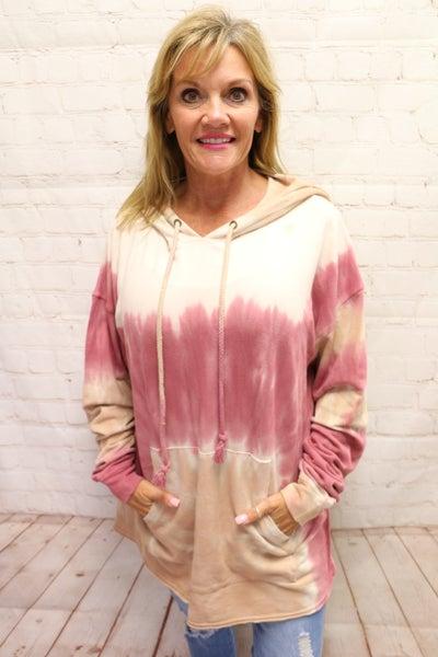 My Charmed Life Tie-Dye Hoodie in Pink - Sizes 4-10