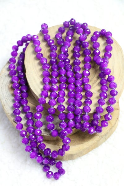 Purple Rain Point Of Perfection Beaded Necklace