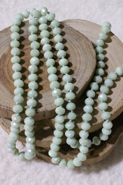 Seafoam Surrender Point Of Perfection Beaded Necklace