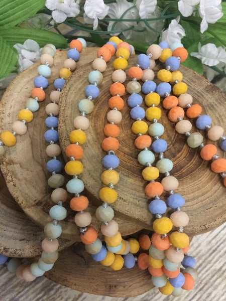 Pastel Surprise Point Of Perfection Beaded Necklace