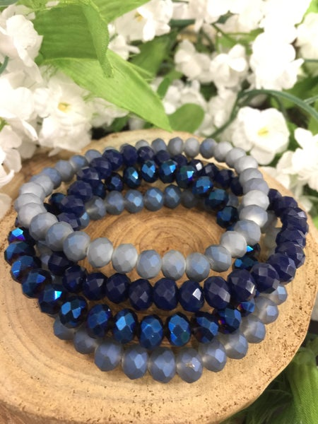 So Much Happiness 4 Strand Beaded Bracelets In Multiple Colors