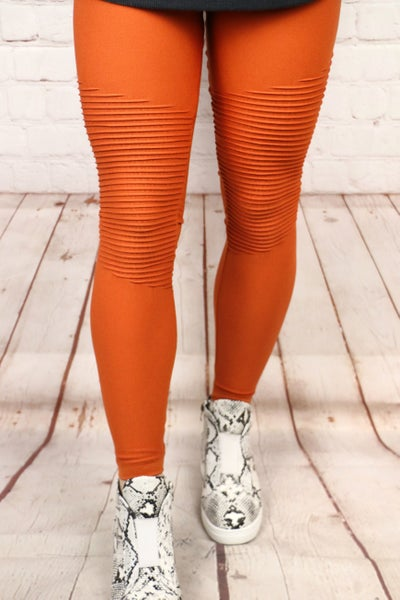 Try Your Luck Seamless Moto Leggings in Multiple Colors - Sizes 4-12