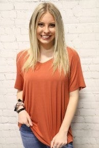 By The Way Basic V Neck Top- Sizes 4-6