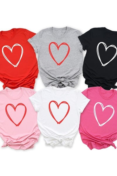 Steal My Heart Graphic Tee in Multiple Colors ***PREORDER*** - Sizes 4- 10