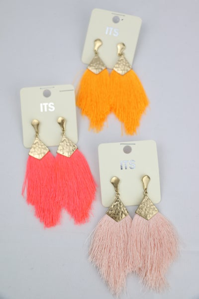 All The Ways Medium Feather Tassel Earring in Multiple Colors