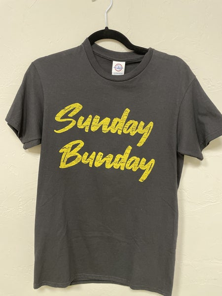 Sunday Bunday Black Graphic Tee In Small