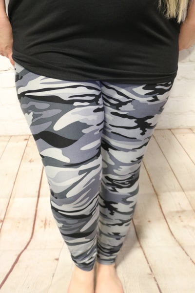 The Night is Yours Camo Leggings In Multiple Colors - Sizes 20-30